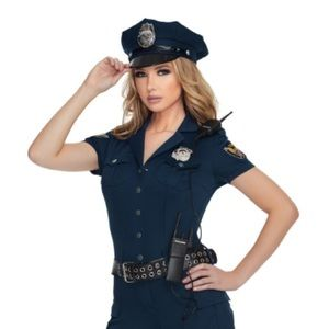 Tops - Navy Blue Police Halloween Costume